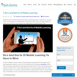 7 Do's and Don'ts of Mobile Learning