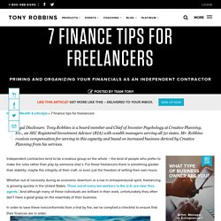 7 finance tips for freelancers