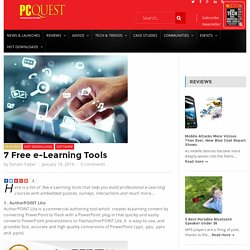 7 Free e-Learning Tools