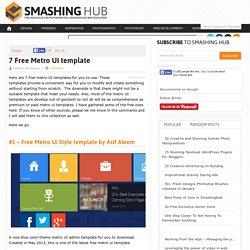 7 Free Metro UI template