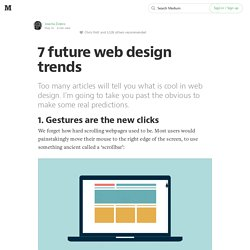 7 future web design trends