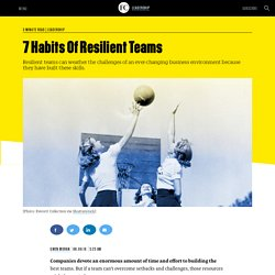 7 Habits Of Resilient Teams
