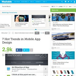 7 Hot Trends in Mobile App Design