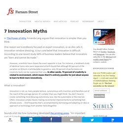 7 Innovation Myths