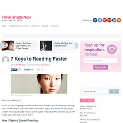 7 Keys to Reading Faster
