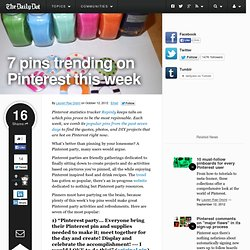 7 pins trending on Pinterest this week