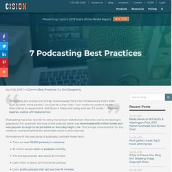 7 Podcasting Best Practices