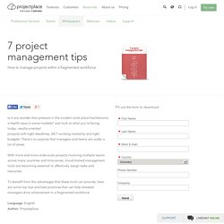 7 project management tips