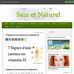 7 Signes d'une carence en vitamine D