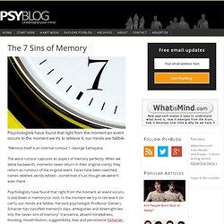 7 Sins of Memory