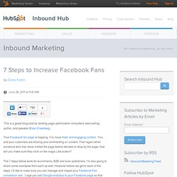 7 Steps to Increase Facebook Fans