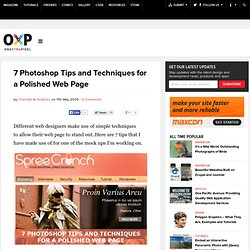 7 Tips for a Polished Web Page