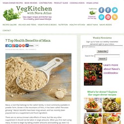 7 Top Health Benefits of Maca