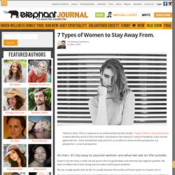 7 Types of Women to Stay Away From.