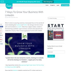 7 ways to grow your business with LinkedIn