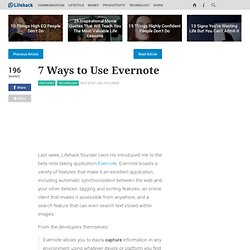 7 Ways to Use Evernote