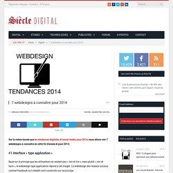 7 webdesigns à connaître pour 2014