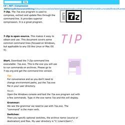 7-Zip Command-Line Examples