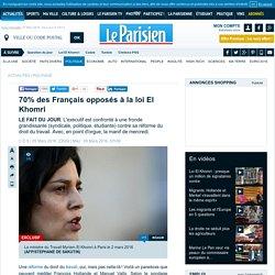70% des Français opposés à la loi El Khomri