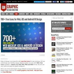 700+ Free PSD Icons for Web Mockup and App UI