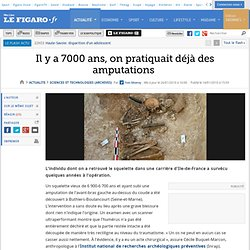 Sciences et Technologies : Il y a 7000 ans, on prati
