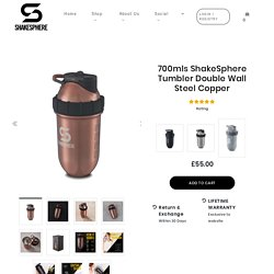 700mls ShakeSphere Tumbler Double Wall Steel Copper – ShakeSphere UK