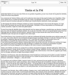 7016-J : Tintin et la FM