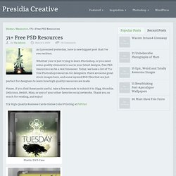 71+ Free PSD Resources