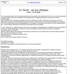 Le Tarot jeu éthique extrait essai Pr Andrea Vitali