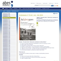 Arabesques n° 72 – Arabesques