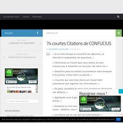 74 courtes Citations de CONFUCIUS