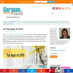 75 Top Apps of 2015 - German Pearls