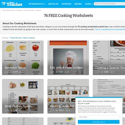 76 FREE Cooking Worksheets