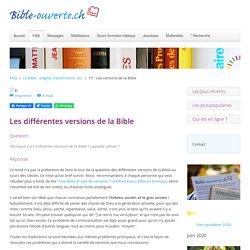 77 - Les versions de la Bible