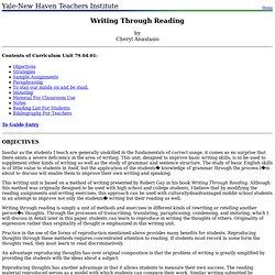 79.04.01: Writing Through Reading