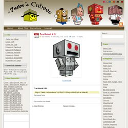 -7ater's Cubees: Toy Robot # 9