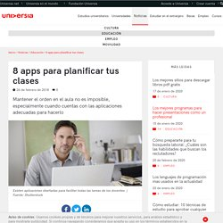 8 apps para planificar tus clases