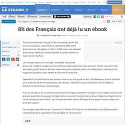 8% des Français ont déjà lu un ebook