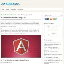 8 Free eBooks to Learn AngularJS