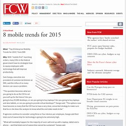 """Top 8 Enterprise Mobility Trends for 2015,"" from DMI/FCW"