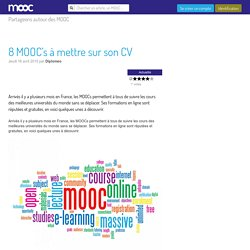 8 MOOC's à mettre sur son CV - Mooc