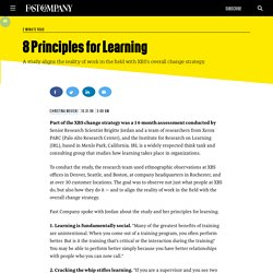 8 Principles for Learning