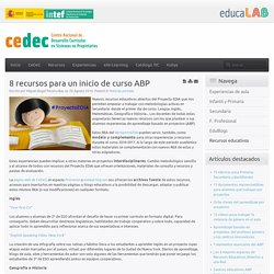 8 recursos para un inicio de curso ABP