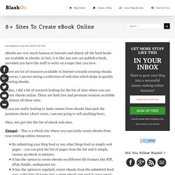 8+ Sites To Create eBook Online