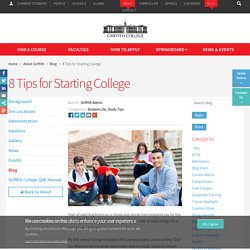 8 Tips for Starting College