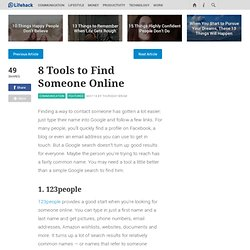 8 Tools to Find Someone Online - Stepcase Lifehack