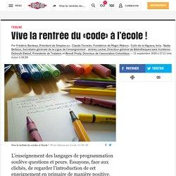 (8) Vive la rentrée du «code» àl'école !