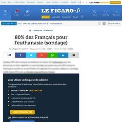 80% des Français pour l'euthanasie (sondage)