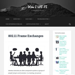 802.11 Frame Exchanges – How I WI-FI