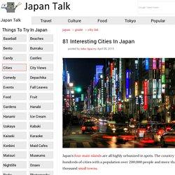 81 Interesting Cities In Japan